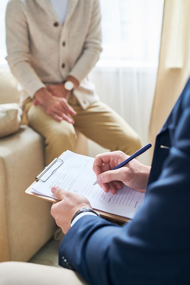 Psychiatrist Taking Notes